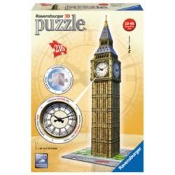 Ravensburger Puzzle 3D. Big Ben con Orologio Vero