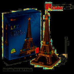 Puzzle 3d torre eiffel con led