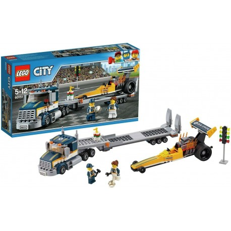 LEGO City 60151 - Great Vehicles Trasportatore di Dragster