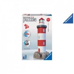 Ravensburger 12565 - Puzzle 3D - Faro Sulla Roccia