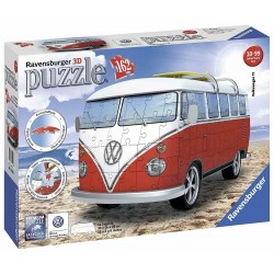 Camper Volkswagen T1 Puzzle 3D Ravensburger 12 516 10+ anni