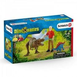 CATTURA DEL TIRANNOSAURO set dinosauri SCHLEICH miniature in resina DINOSAURS t