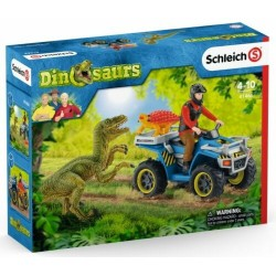 FUGA SUL QUAD set dinosauri DINOSAURS schleich 41466 miniature in resina KIT