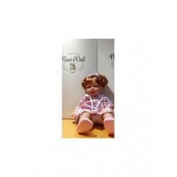 bambola nines cm 35 rossa vestito rosa frutti