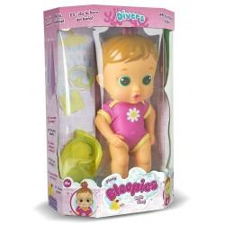 Bloopies Flowy Amici Bagnetto Pink Bambole Bionda Maschere Gioco Bolle Sapone