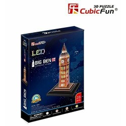 CubicFun Puzzle 3D UK Big Ben LED London Architecture Building 28 pezzi.