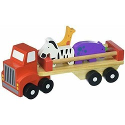Tooky Toys Tkb380 Animal Bois Camion, Multicolore