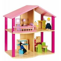 Viga 2043607 Dollhouse VILLETTA ECOLOGICA PER BAMBOLE CM 46 x 36 x 31