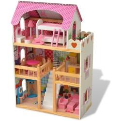 Casa Sophia in Legno con Mobili e Bamboline