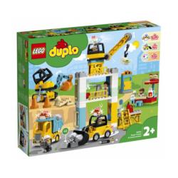 Cantiere edile con gru a torre Lego