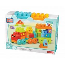 Mega Bloks ABC lernzug (60 pezzi), Steck-elementi costitutivi, blocchi per costruzioni, gioco di apprendimento roba