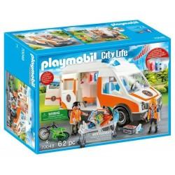 Playmobil City Life 70049 Ambulanza con Lampeggianti e Sirena dai 4 anni