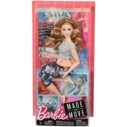 Barbie- Curvy con Capelli Ramati Bambola Snodata, 22 Punti Snodabili per Tanti M